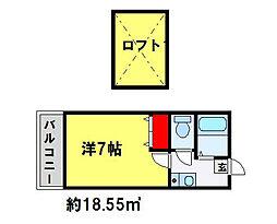 プラムコートリサ[103号室]の間取り