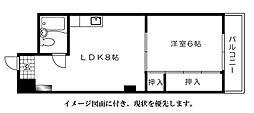 泰久マンション[402号室]の間取り