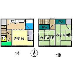 [一戸建] 高知県高知市一宮東町4丁目 の賃貸【/】の間取り