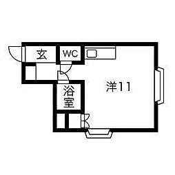藤井ビル北10条[2階]の間取り
