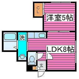 北海道札幌市東区北三十四条東14丁目の賃貸アパートの間取り
