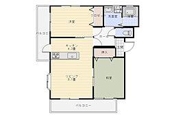 広島県呉市焼山中央6丁目の賃貸マンションの間取り