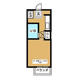 ハミングK[1階]の間取り