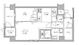 JR鹿児島本線 香椎駅 徒歩5分の賃貸マンション 4階1LDKの間取り