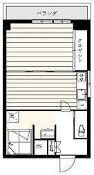 ライオンズマンション飯田橋 6階1DKの間取り