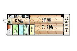 エスポワール三ノ宮パートII[603号室]の間取り