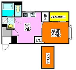ターフィーズ・フラット・小阪本町 303号室[3階]の間取り