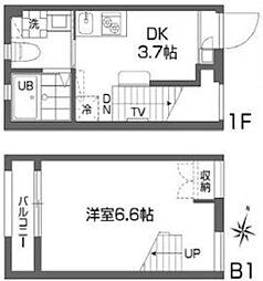 グランアセット西新宿[-1階]の間取り