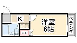 マンショントニオー能勢口第2[106号室]の間取り