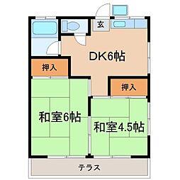 きさらぎ荘[2階]の間取り