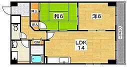 サンコート吉野[3階]の間取り