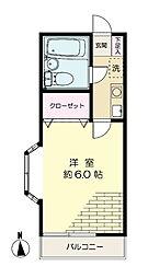 サンシャインハウス[B-203号室]の間取り