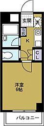 マンション弥栄[5階]の間取り