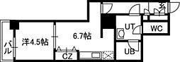 PRIME URBAN札幌 RIVER FRONT[709号室]の間取り