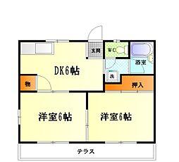 [タウンハウス] 神奈川県横須賀市根岸町5丁目 の賃貸【/】の間取り