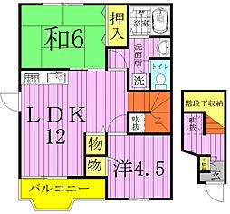 サニースクエア[2階]の間取り