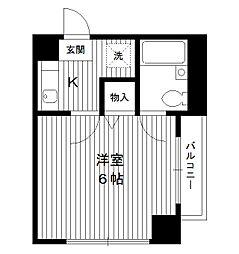 東京都豊島区南長崎4丁目の賃貸マンションの間取り