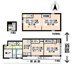 東京都世田谷区世田谷1丁目の賃貸アパートの間取り