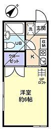 ディノ高根台[2階]の間取り