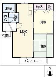 セントレートK[2階]の間取り