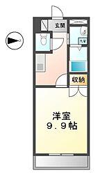 愛知県清須市新清洲1丁目の賃貸アパートの間取り