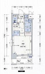 プレサンス心斎橋モデルノ[2階]の間取り