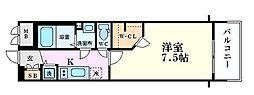 Osaka Metro堺筋線 長堀橋駅 徒歩4分の賃貸マンション 5階1Kの間取り