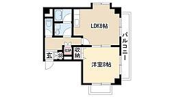 愛知県名古屋市緑区鴻仏目1丁目の賃貸マンションの間取り