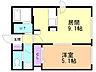 間取り,1LDK,面積34m2,賃料5.3万円,札幌市営東西線 琴似駅 徒歩5分,JR函館本線 琴似駅 徒歩23分,北海道札幌市西区琴似四条6丁目4番60号
