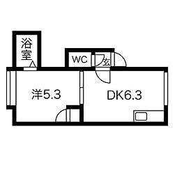 ステージ澄川II[3階]の間取り
