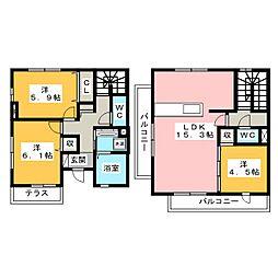 D−room市崎[1階]の間取り