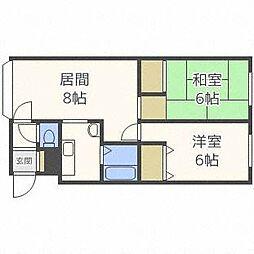 北海道札幌市西区発寒三条3丁目の賃貸アパートの間取り
