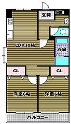 若松台中央マンション[5階]の間取り