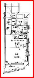 東京都台東区池之端3丁目の賃貸マンションの間取り