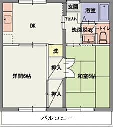 岡山県総社市中原の賃貸アパートの間取り