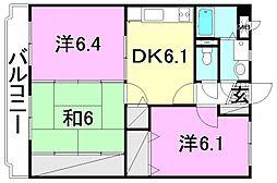 マジョーレ和田[203 号室号室]の間取り