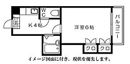 第5シモビル[703号室]の間取り