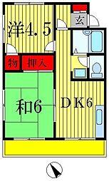 ジュネパレス松戸76[1階]の間取り