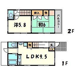 [一戸建] 兵庫県西宮市千歳町 の賃貸【/】の間取り