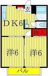 ライプニングコーポ[D-105号室]の間取り