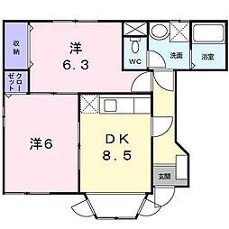 ゼフィルス新川 B棟[101 号室号室]の間取り