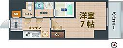 東京メトロ東西線 落合駅 徒歩8分の賃貸マンション 3階1Kの間取り