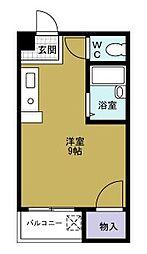 レジデンスユニ[3階]の間取り