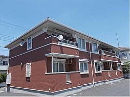 埼玉県東松山市山崎町の賃貸アパートの外観