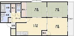 サンハイツ旭ヶ丘[4階]の間取り