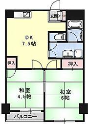 マリネットA-ワン[5階]の間取り