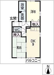 ルーブル[2階]の間取り