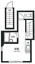 OYO LIFE #2447 アビタシオン旗の台 2階ワンルームの間取り