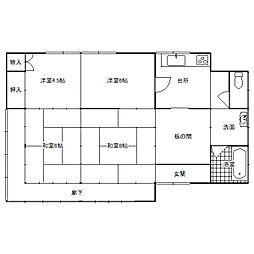 [一戸建] 千葉県香取市返田 の賃貸【/】の間取り