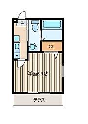 神奈川県相模原市南区相模大野9丁目の賃貸アパートの間取り